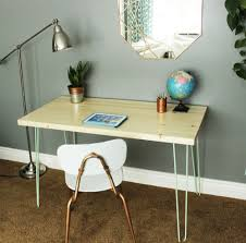 Diy Desk Legs Diy Contemporary Hairpin Leg Desk