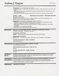 sample cv interests section