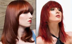 red hair color long hairstyles bangs nice for women medium hair