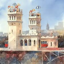 building style city of dreams paintings combine warsaw u0027s traditional