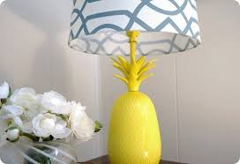 Yellow Table Lamp Bright Yellow Pineapple Table Lamp