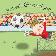 grandson birthday card football fantastic grandson tw654