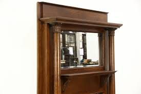 victorian oak architectural salvage antique fireplace mantel