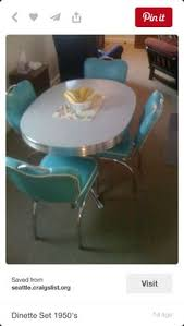 Vintage Dining Table Craigslist Still In Production After Nearly 70 Years Acme Chrome Dinettes