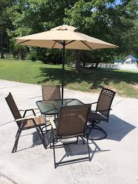 patio table with 4 chairs new patio set 6 piece outside with umbrella glass top table 4