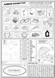 english teaching worksheets summer