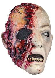 skin mask halloween zombie mask skin color with blood larp mask epic armoury