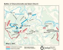 Map Of Confederate States by Battle Of Chancellorsville Casualties Civil War Virginia Map
