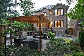 Covered Pergola Plans Covered Pergola Plans Landscape Contemporary With Backyard Brick