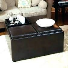 Ottoman With Table Large Storage Ottoman Large Leather Ottoman Coffee Table Tufted