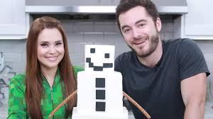 minecraft shorn snow golem cake ft captainsparklez nerdy
