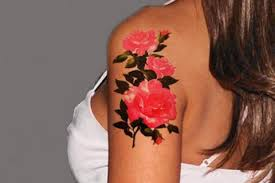 valeria pink rose temporary tattoo u2013 mybodiart