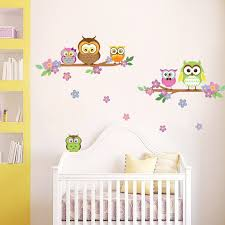 walplus owl flower tree wall decal reviews wayfair owl flower tree wall decal