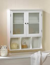 White Bathroom Cabinet With Glass Doors Compact Bathroom Kitchen Wall Cabinet White 2 Frosted Glass Doors