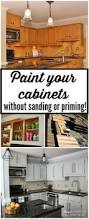 Painting Kitchen Cabinet Ideas by From To Great A Tale Of Painting Oak Cabinets