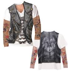 men u0027s faux tattoos long sleeve t shirt at what on earth ck3042l