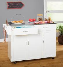 black kitchen island with stainless steel top red barrel studio garrettsville kitchen island with stainless in