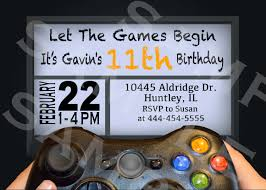 office depot invitations printing video game birthday party invitation gamer theme invitation