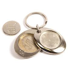 round key rings images M6 trolley coin blank metal 25mm round insert keyring jpg