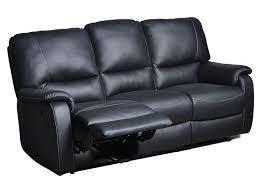 canapé cuir noir 3 places canapé relaxation 3 places kamate coloris noir vente de canapé