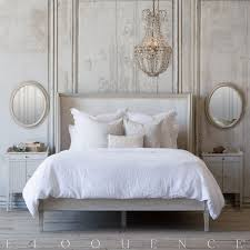 eloquence cassia bed in antique linen and dove velvet