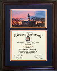 clemson diploma frame clemson diploma frame tillman sunset 33 clemsonframeshop