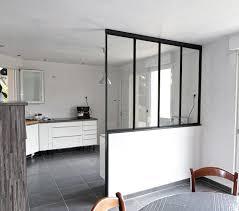 verriere dans une cuisine verrière entre cuisine et salon verrière intérieure entrammes