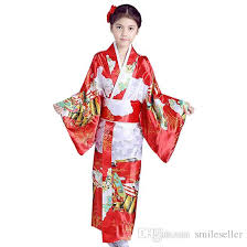 sale japanese kimono dress kid performance costumes long