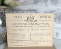 telegram wedding invitation vintage travel wedding invitation destination wedding