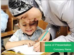 arabic teacher working powerpoint template u0026 backgrounds id