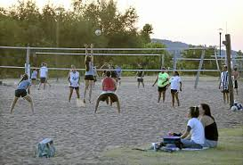 sand volleyball courts will remain at riverside drive site metro