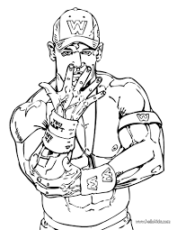 wrestler john cena coloring page wwe birthday party pinterest