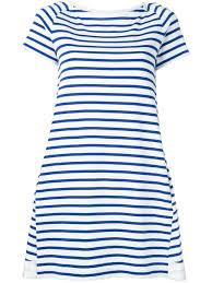 sacai dixie border dress 814 off white blue women clothing day
