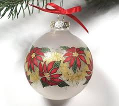 free tole painting patterns frosted poinsettia ornament