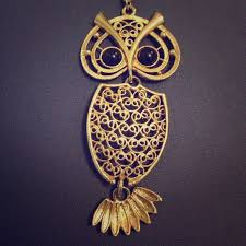 owl vintage necklace images Sarah coventry jewelry vintage gold owl necklace poshmark jpg