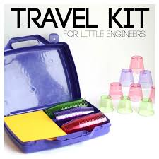 Engineering kits for kids travel sized cup stacking