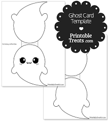 printable ghost card template u2014 printable treats