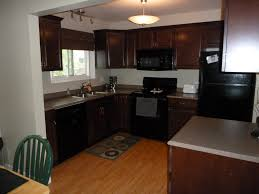 Dark Kitchen Ideas Maple Kitchen Cabinets With Black Appliances Home Design Ideas