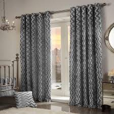 Coffee Bag Curtains by Pair Of Wave Crushed Velvet Curtains Eyelet Ring Top Silver Grey