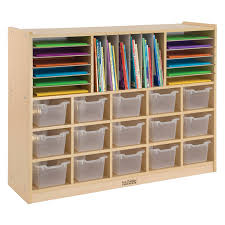 ecr4kids 20 tray storage cabinet with clear bins hayneedle
