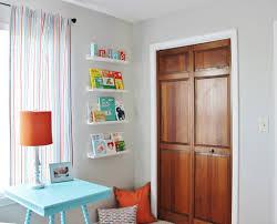 ikea ledges aqua orange and grey nursery project nursery