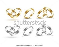 and silver wedding gold wedding rings stock vector 557544538