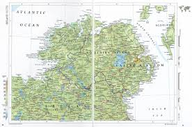 Blank Northern Africa Map by Online Maps Northern Ireland Map