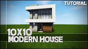 Modern House Minecraft Minecraft House Tutorial 10x10 Modern House Best House Tutorial