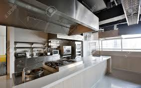 Kitchen Equipment Design by Work Surface And Kitchen Equipment In Professional Kitchen Stock