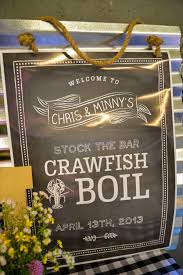 stock the bar shower event of the week crawfish boil stock the bar shower sweet