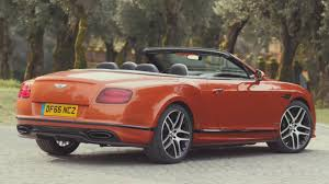 bentley orange interior 2017 bentley continental supersports convertible open air