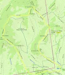 Appalachian Trail Massachusetts Map by Trail Map Of Hike Route To Belknap Mountain In The Lakes Region Of