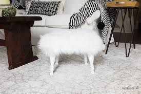 diy fur stool how to make your own farmhouse 40