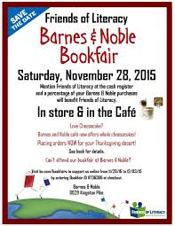 barnes noble bookfair fundraiser friends of literacy